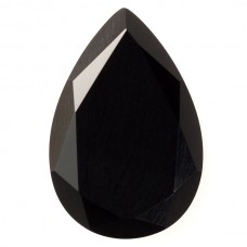 Pear Genuine Faceted Top Black Onyx