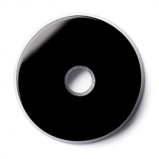 Round Genuine Buff Top Drilled Black Onyx