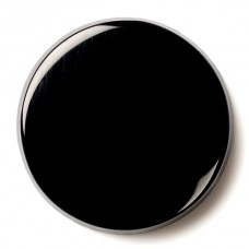 Round Genuine Buff Top Black Onyx