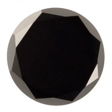 Round Genuine Faceted Top Black Onyx
