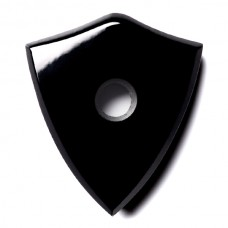 Shield Genuine Buff Top Drilled Black Onyx