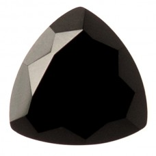 Trilliant Genuine Faceted Top Black Onyx