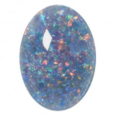 Oval Genuine Low Dome Cab Opal Triplet