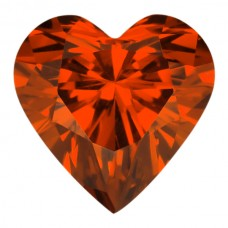 Heart Lab Created Orange Cubic Zirconia