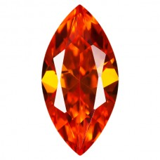 Marquise Lab Created Orange Cubic Zirconia