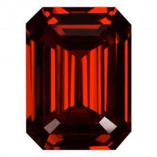 Octagon Lab Created Orange Cubic Zirconia
