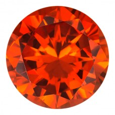 Round Lab Created Orange Cubic Zirconia