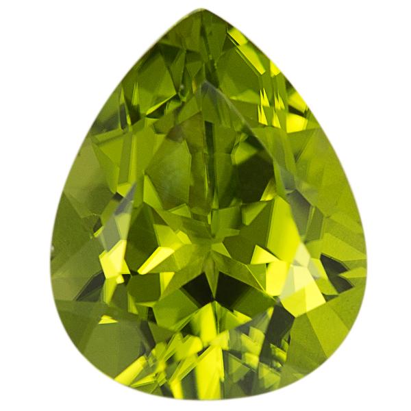 Pear Genuine Peridot Single Stone(s)