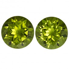 Round Genuine Peridot Single Stone(s)