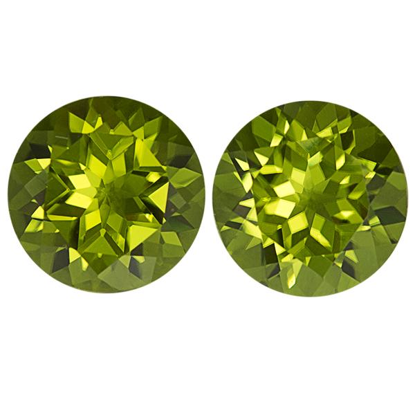 Round Genuine Peridot Single Stone(s)