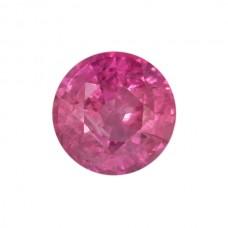 Round Genuine Pink Sapphire Single Stone(s)