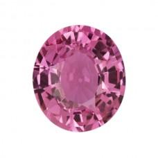 Oval Genuine Pink Sapphire Single Stone(s)