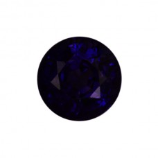 Round Genuine Purple Sapphire Single Stone(s)