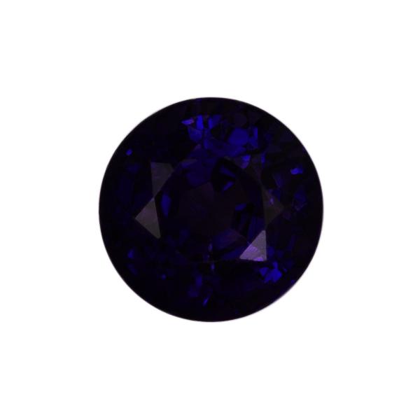 Round Genuine Purple Sapphire Single Stone(s)