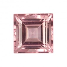 Square Genuine Pink Tourmaline Single Stones
