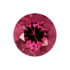 Round Genuine Pink Tourmaline Single Stones