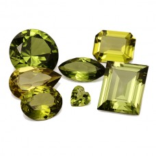 Peridot Soudee Dblt Simulated Faceted