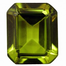 Octagon Simulated Peridot Doublet
