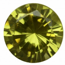 Round Simulated Peridot Doublet