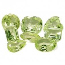 Peridot Simulated Faceted