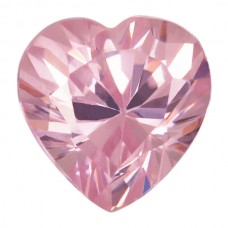 Heart Lab Created Pink Ice Cubic Zirconia