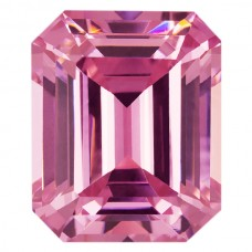 Octagon Lab Created Pink Ice Cubic Zirconia