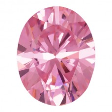 Oval Lab Created Pink Ice Cubic Zirconia