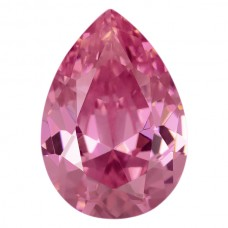 Pear Lab Created Pink Ice Cubic Zirconia