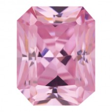 Octagon Radiant Lab Created Pink Ice Cubic Zirconia