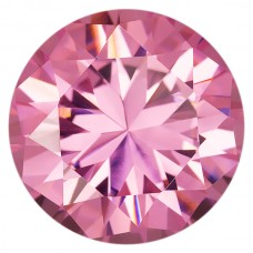 Round Lab Created Pink Ice Cubic Zirconia