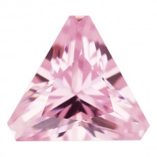 Triangle Lab Created Pink Ice Cubic Zirconia