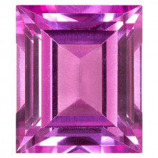 Cushion Synthetic Rose Sapphire