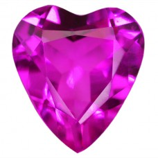 Heart Synthetic Rose Sapphire