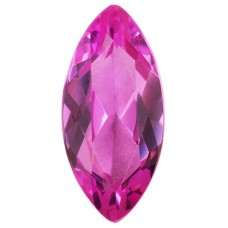 Marquise Synthetic Rose Sapphire