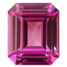 Octagon Synthetic Rose Sapphire
