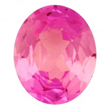 Oval Synthetic Rose Sapphire