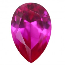 Pear Synthetic Rose Sapphire