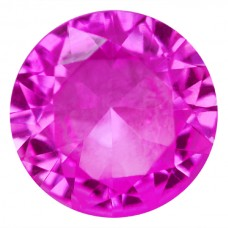Round Synthetic Rose Sapphire