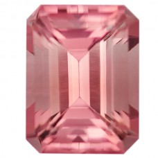 Octagon Genuine Pink Tourmaline