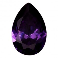 Pear Lab Created Amethyst Cubic Zirconia