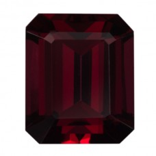 Octagon Genuine Rhodolite Single Stone(s)