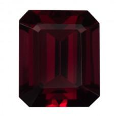 Octagon Genuine Rhodolite Single Stone(s)
