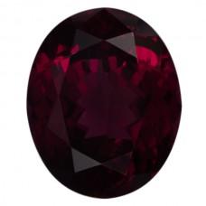 Oval Genuine Rhodolite Single Stone(s)