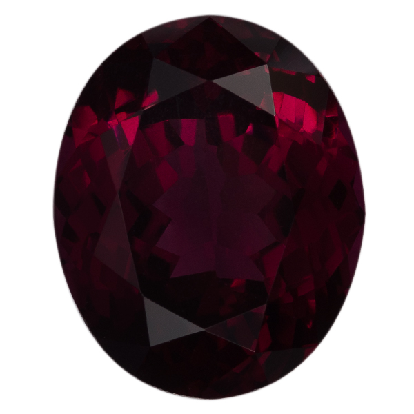 Oval Genuine Rhodolite Single Stone(s)