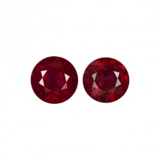 Round Genuine Ruby Single Stone(s)