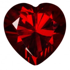 Heart Lab Created Garnet Cubic Zirconia