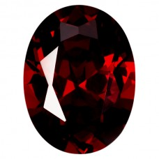 Oval Lab Created Garnet Cubic Zirconia