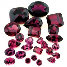 Rhodolite Genuine Faceted
