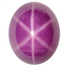 Oval Synthetic Cab Ruby Star Sapphire