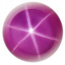 Round Synthetic Cab Ruby Star Sapphire